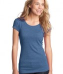 District - Juniors Textured Girly Crew Tee Style DT270
