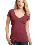 District Juniors Very Important Tee Deep V-Neck Style DT6502