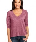 District Made - Ladies Microburn V-Neck Raglan Tee Style DM462