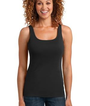 District Made Ladies Mini Rib Racerback Tank Style DM403 1