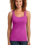 District Made Ladies Mini Rib Racerback Tank Style DM403