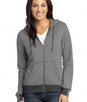 District Made - Ladies Mini Stripe Full-Zip Hoodie Style DM490