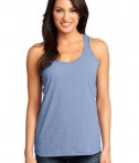 District Made - Ladies Mini Stripe Gathered Racerback Tank Style DM421