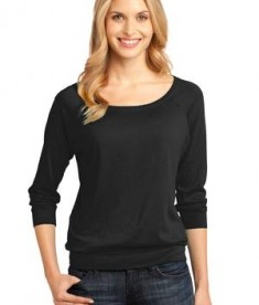 District Made - Ladies Modal Blend 3/4-Sleeve Raglan Style DM482