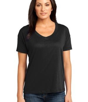 District Made – Ladies Modal Blend Relaxed V-Neck Tee Style DM480 1