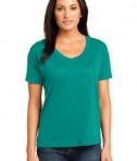District Made - Ladies Modal Blend Relaxed V-Neck Tee Style DM480