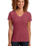 District Made Ladies Perfect Blend V-Neck Tee Style DM1190L