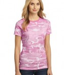 District Made - Ladies Perfect Weight Camo Crew Tee Style DM104CL