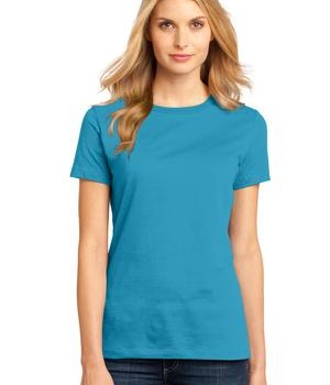 District Made – Ladies Perfect Weight Crew Tee Style DM104L 1