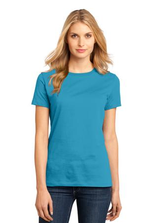 District Made - Ladies Perfect Weight Crew Tee Style DM104L