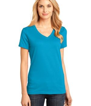 District Made – Ladies Perfect Weight V-Neck Tee Style DM1170L 1