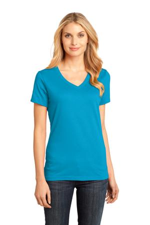 District Made - Ladies Perfect Weight V-Neck Tee Style DM1170L