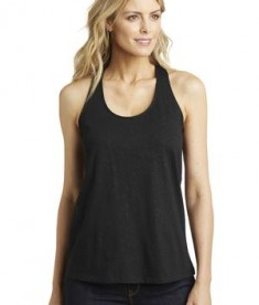 District Made Ladies Shimmer Loop Back Tank Style DM455