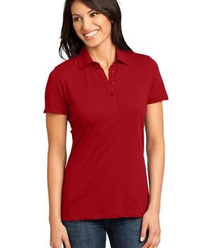 District Made – Ladies Slub Polo Style DM450 1