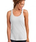 District Made Ladies Solid Gathered Racerback Tank Style DM420