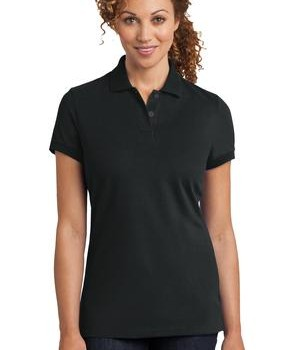 District Made Ladies Stretch Pique Polo Style DM425 1