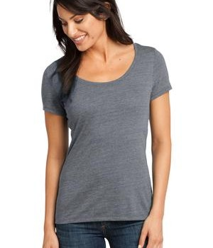 District Made – Ladies Textured Scoop Tee Style DM471 1