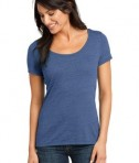 District Made - Ladies Textured Scoop Tee Style DM471