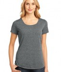District Made - Ladies Tri-Blend Lace Tee Style DM441