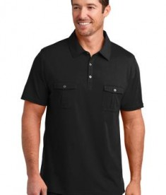 District Made Mens Double Pocket Polo Style DM333
