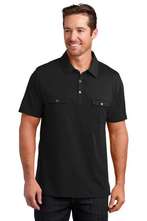 District Made Mens Double Pocket Polo Style Dm333 Casual