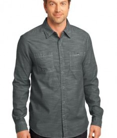 District Made - Mens Long Sleeve Washed Woven Shirt Style DM3800
