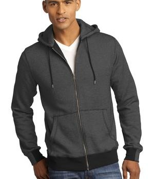 District Made – Mens Mini Stripe Full-Zip Hoodie Style DM390 1