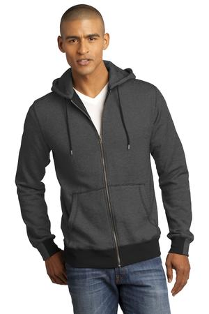 District Made - Mens Mini Stripe Full-Zip Hoodie Style DM390