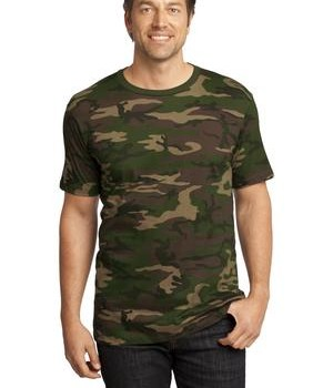 District Made Mens Perfect Weight Camo Crew Tee Style DT104C 1