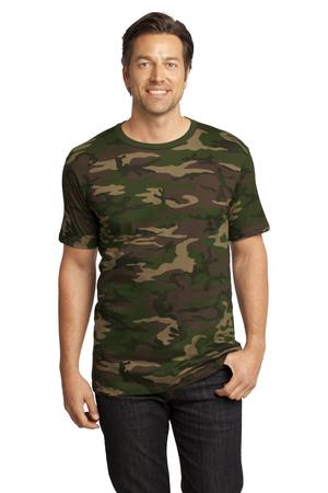 District Made Mens Perfect Weight Camo Crew Tee Style DT104C