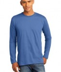 District Made Mens Perfect Weight Long Sleeve Tee Style DT105