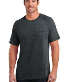 District Made Mens Tri-Blend Pocket Tee Style DM340