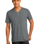 District Made - Mens Tri-Blend Short Sleeve Henley Tee Style DM342