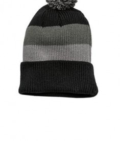 District - Vintage Striped Beanie with Removable Pom Style DT627