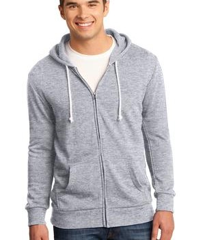 District – Young Mens Core Fleece Full-Zip Hoodie Style DT190 1
