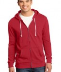 District - Young Mens Core Fleece Full-Zip Hoodie Style DT190