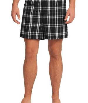 District – Young Mens Flannel Plaid Boxer Style DT1801 1