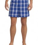 District - Young Mens Flannel Plaid Boxer Style DT1801