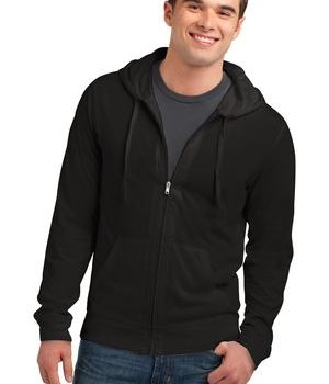 District Young Mens Lightweight Jersey Full-Zip Hoodie Style DT1100 1