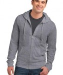 District Young Mens Lightweight Jersey Full-Zip Hoodie Style DT1100