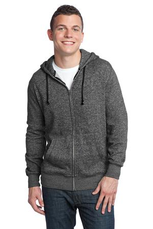 District – Young Mens Marled Fleece Full-Zip Hoodie Style DT192 1