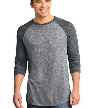 District – Young Mens Microburn 3/4-Sleeve Raglan Tee Style DT162 1