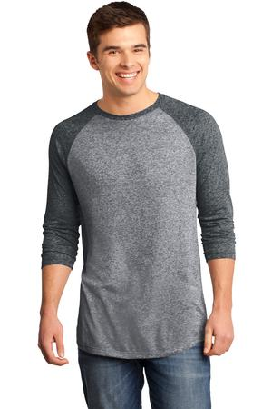 District - Young Mens Microburn 3/4-Sleeve Raglan Tee Style DT162