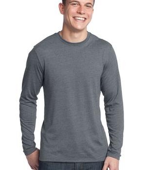 District – Young Mens Textured Long Sleeve Tee Style DT171 1