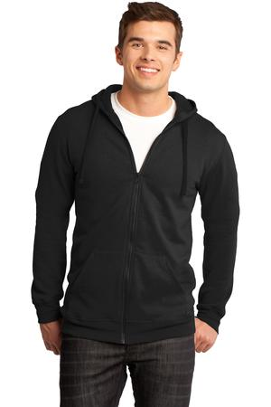 District – Young Mens The Concert Fleece Full-Zip Hoodie Style DT800 1