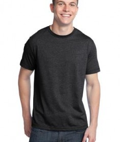 District - Young Mens Tri-Blend Crew Neck Tee Style DT142