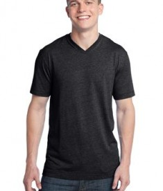 District - Young Mens Tri-Blend V-Neck Tee Style DT142V
