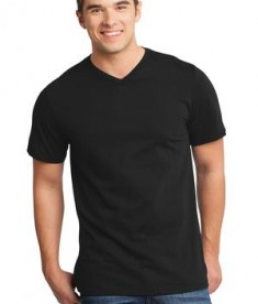 District - Young Mens Very Important Tee V-Neck Style DT6500