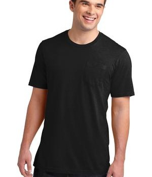 District Young Mens Very Important Tee with Pocket Style DT6000P 1