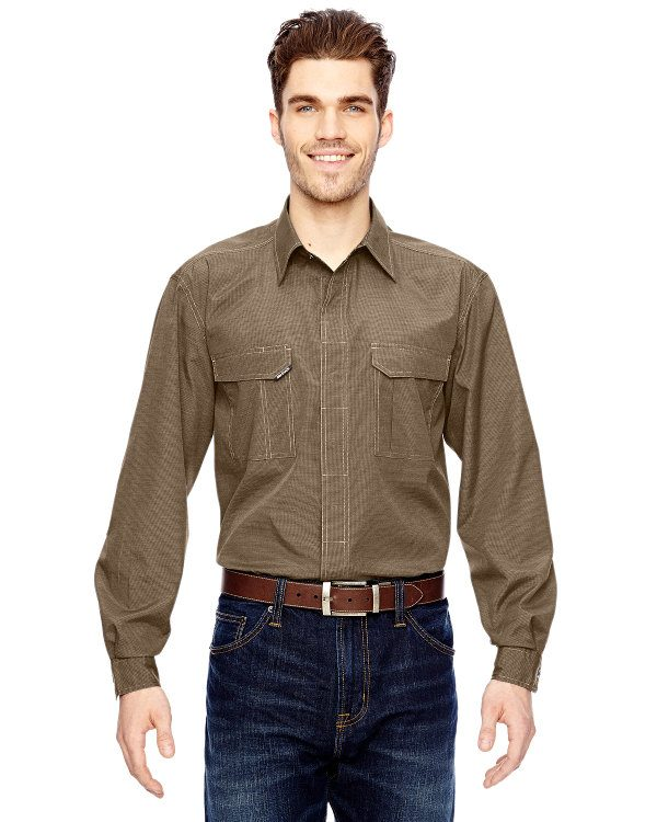 Dri Duck Men's Field Shirt Khaki